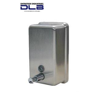 Distributeur savon à mains vertical acier inox